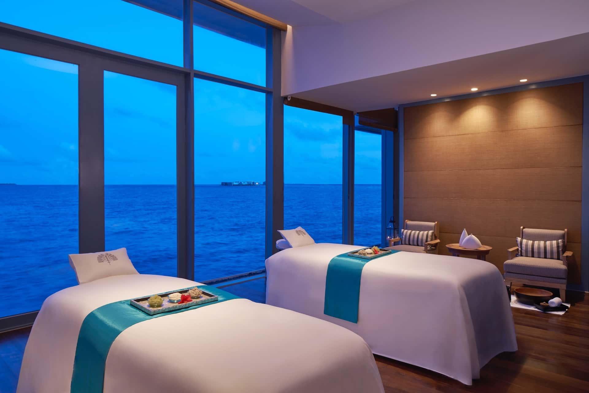 Spa Couples Room Raffles Maldives Meradhoo, фото