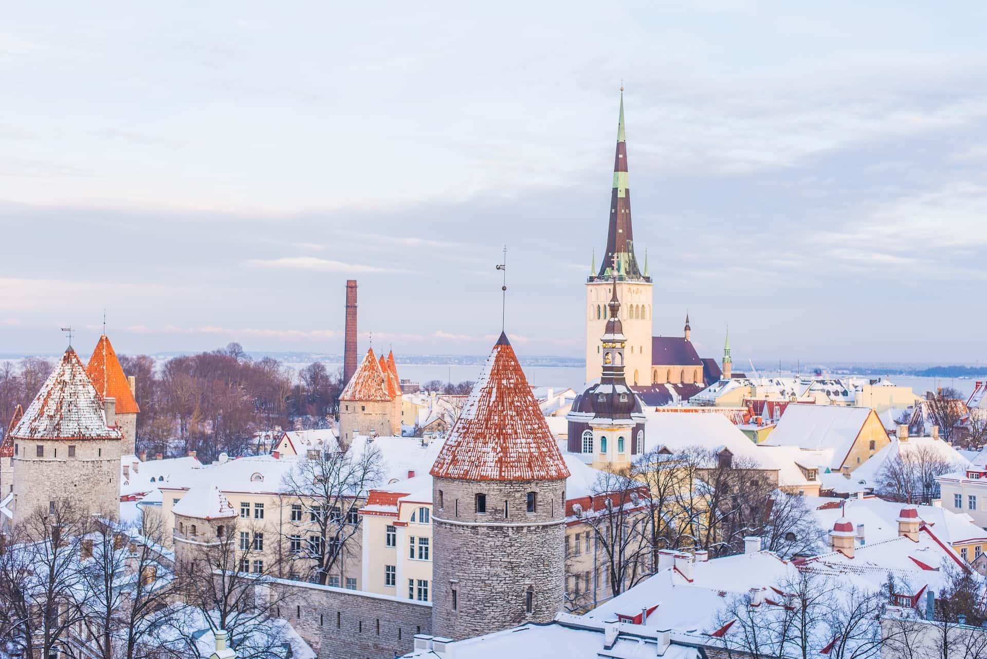 Зимний Таллинн, фото