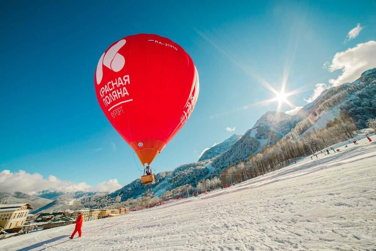 Полет на воздушном шаре Красная Поляна, фото