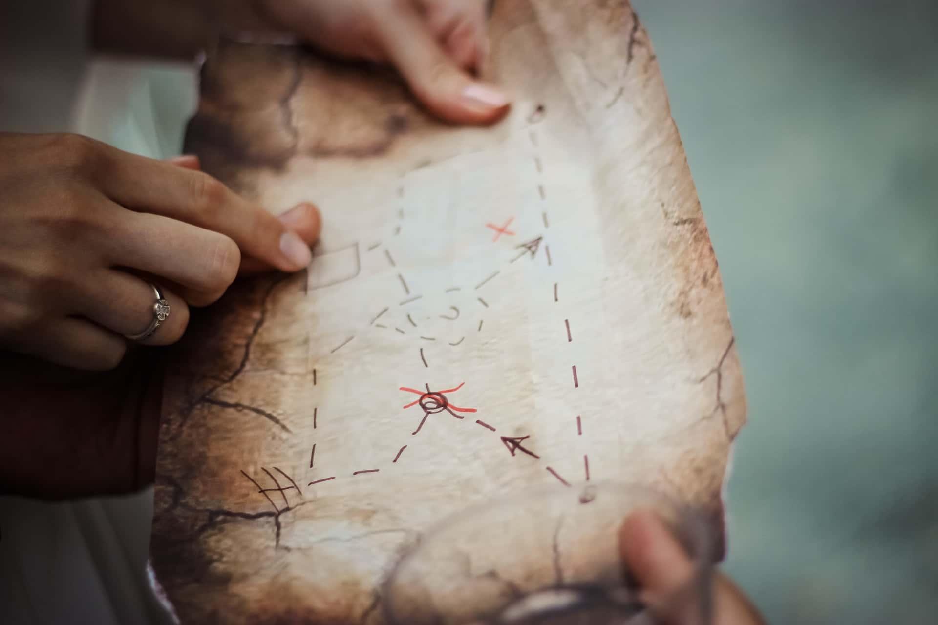 treasure map, фото