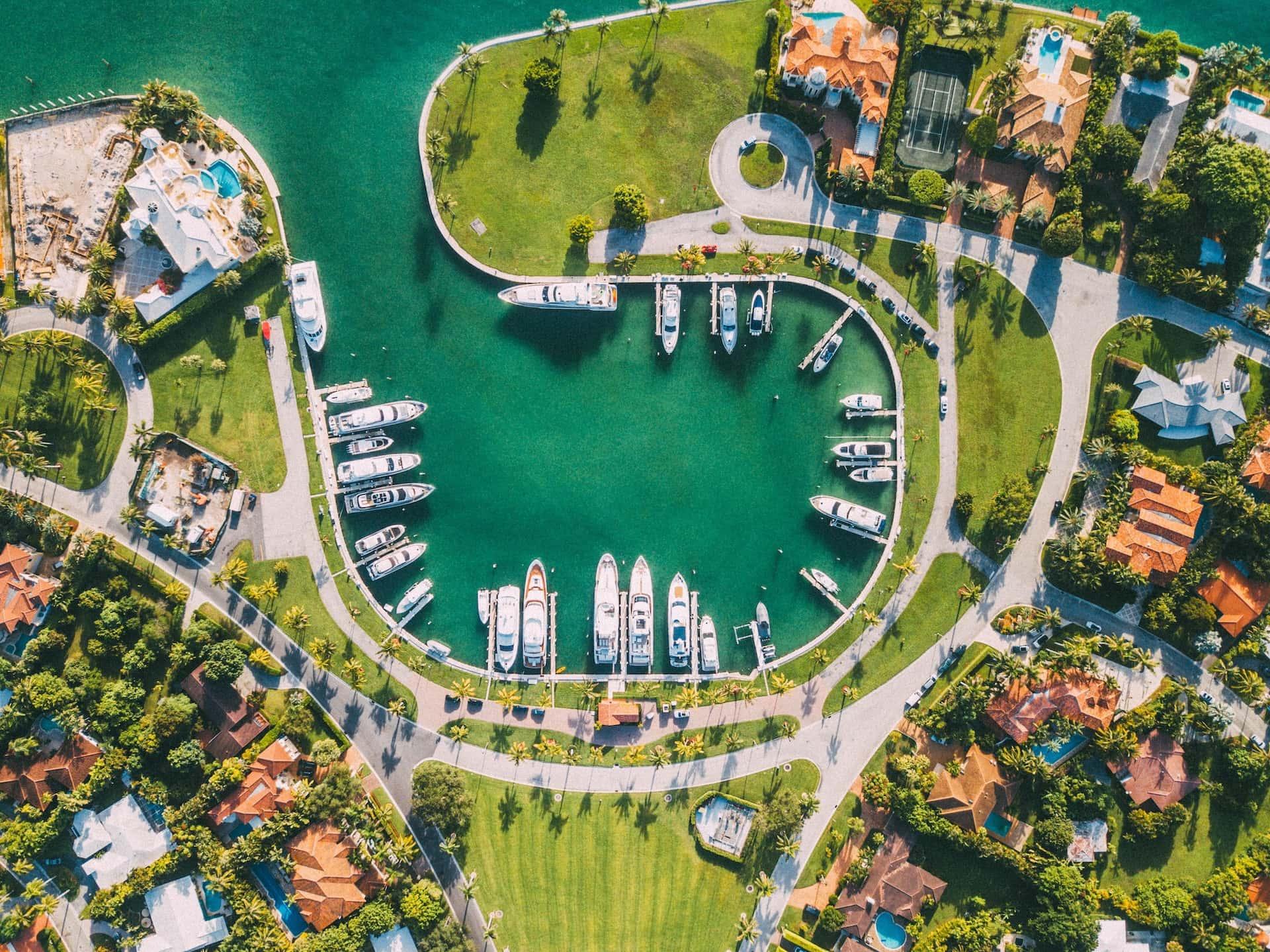 Яхты в Майами, фото