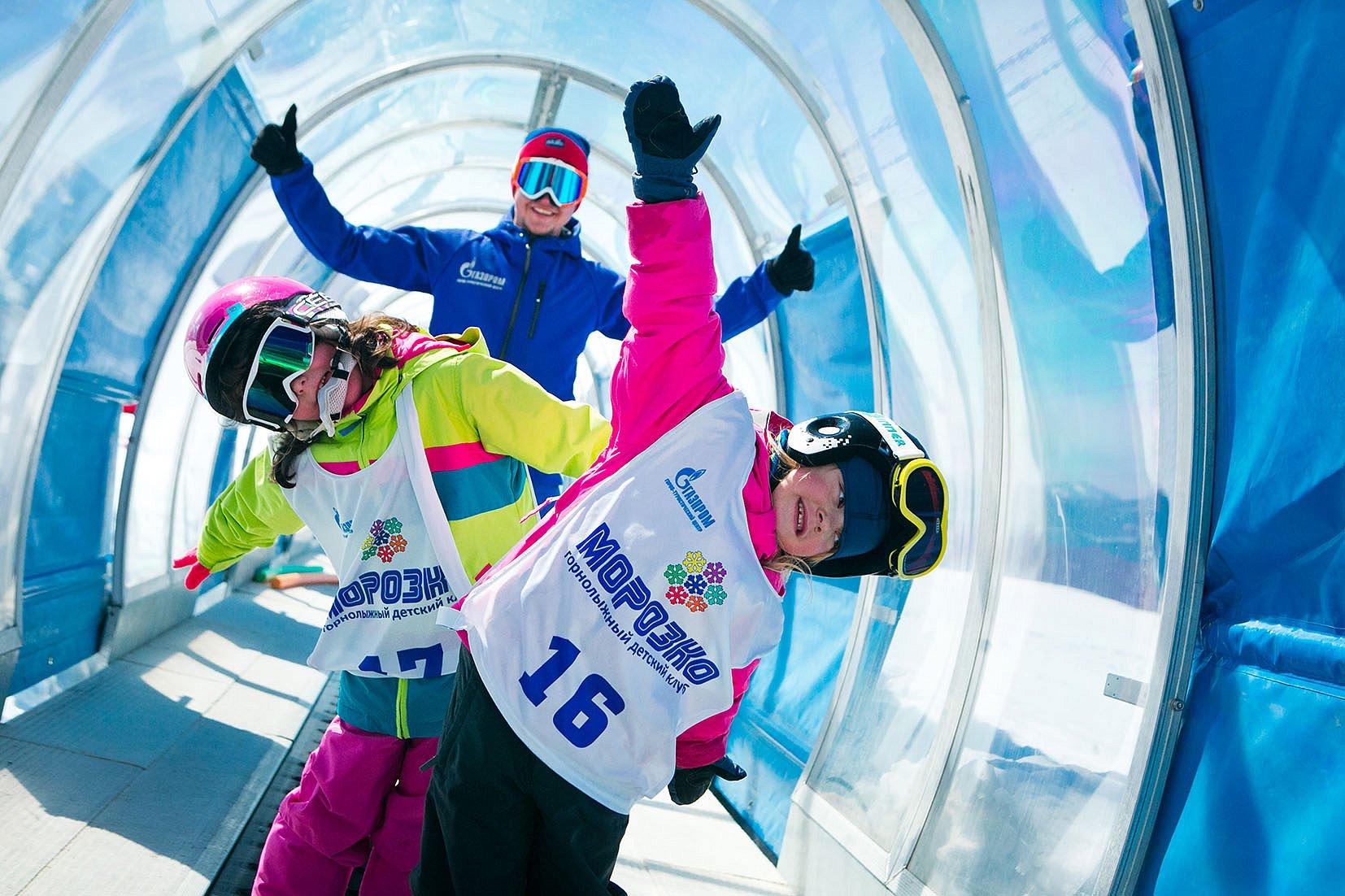 Зимние развлечения ГТЦ Газпром, фото