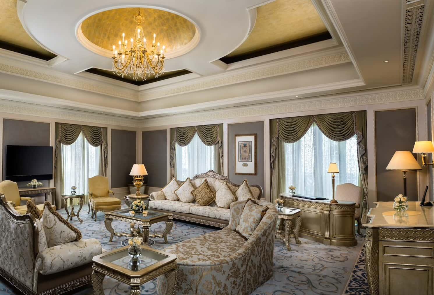 Abu Dhabi Emirates Palace Royal Khaleej Suite Lounge, фото