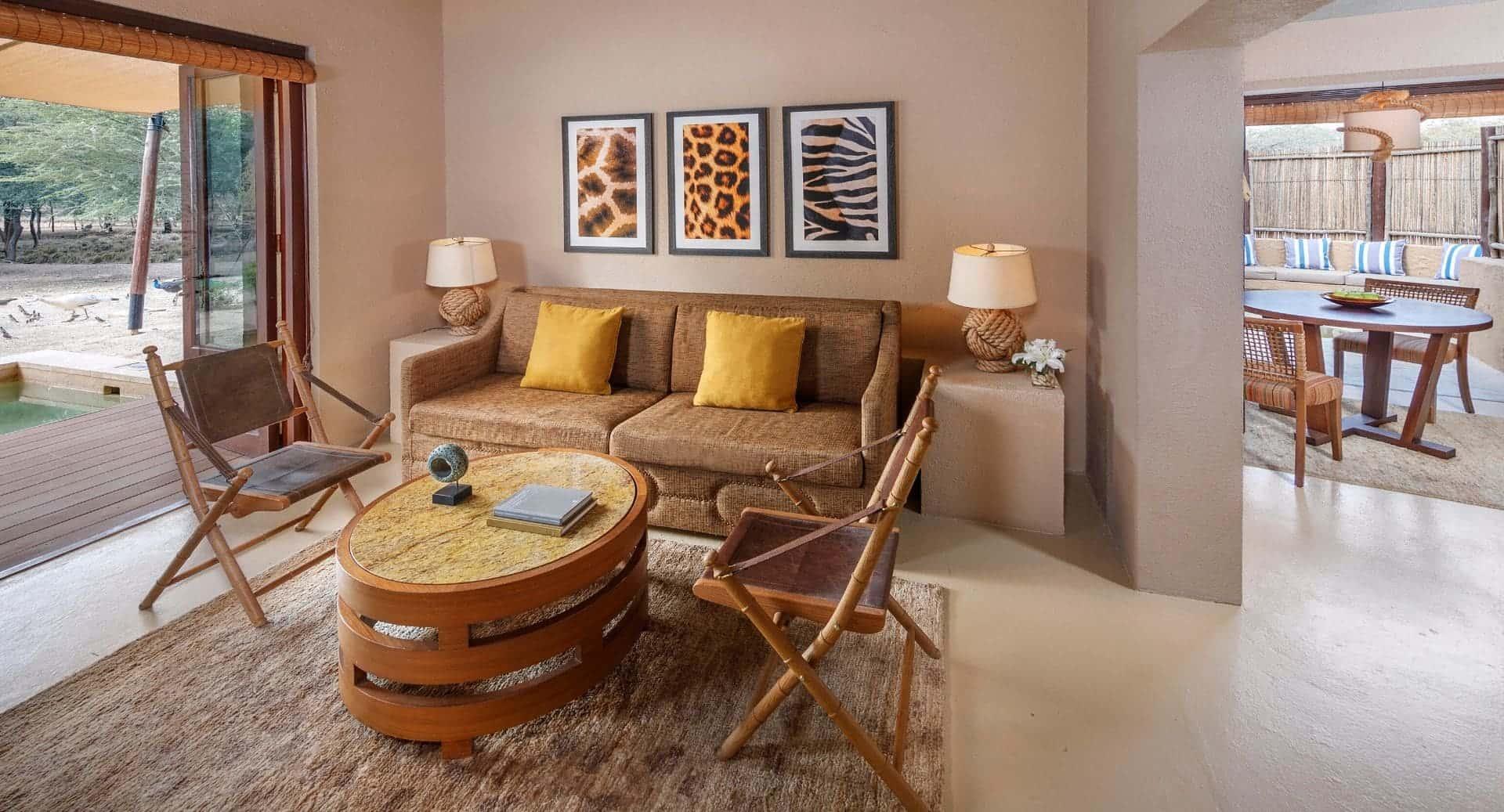 Anantara Sir Bani Yas Al Sahel Villa Living Room Абу-Даби, фото