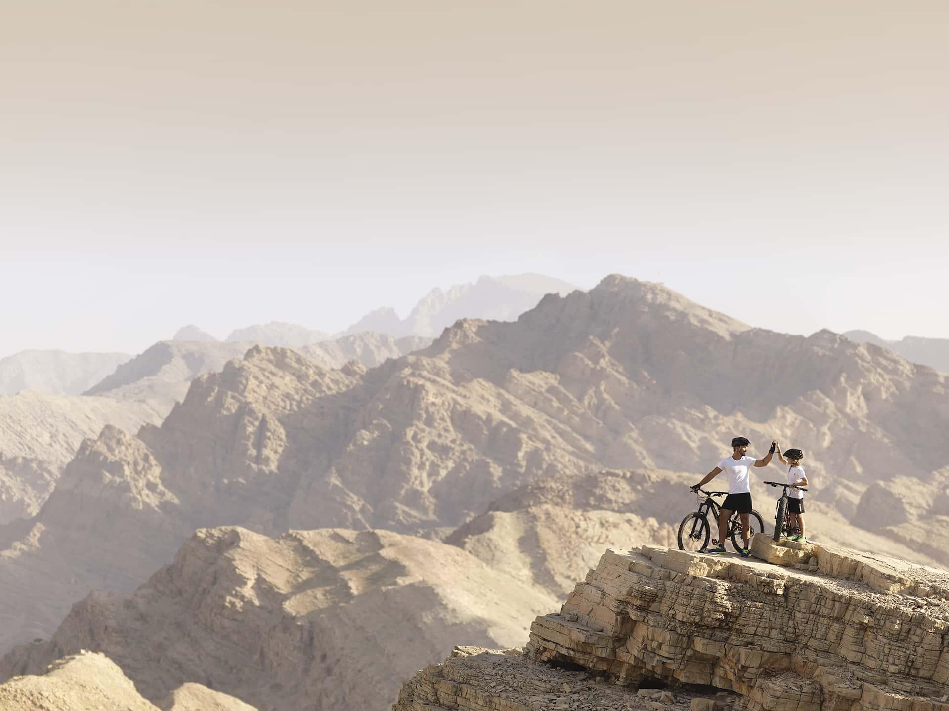 Ras Al Khaima Mountain Biking Father Son, фото