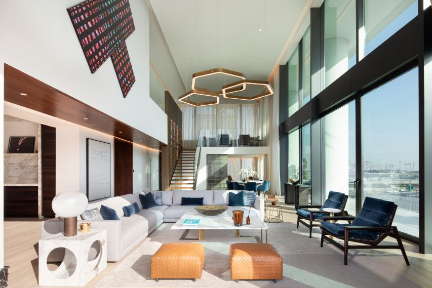 The Residences, Dorchester Collection, Dubai Living Room, фото