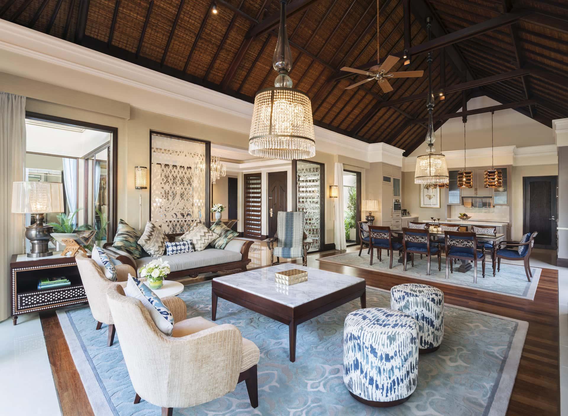The St. Regis Bali Resort Strand Residence Living Room, фото