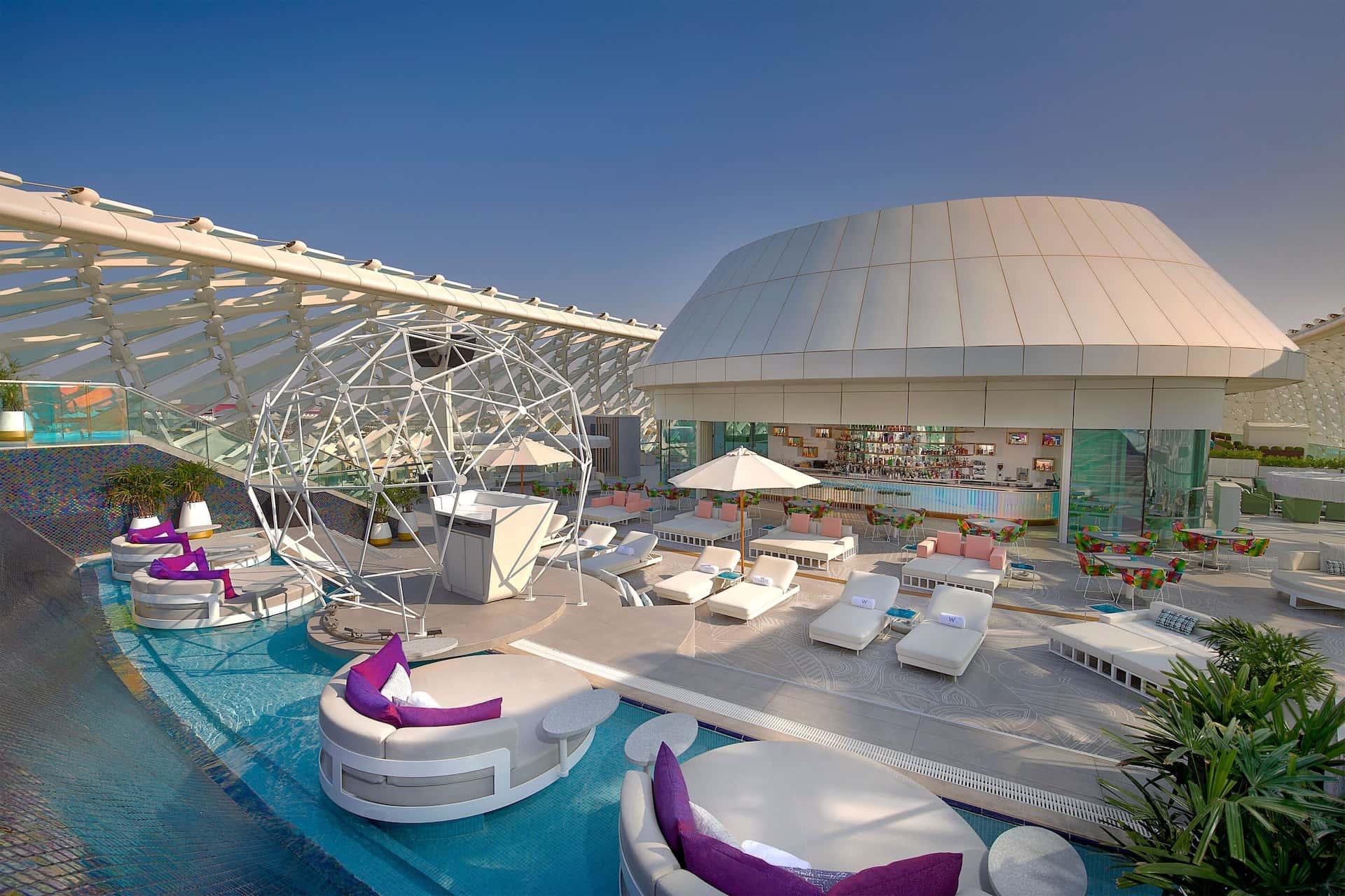 W Abu Dhabi - Yas Island Wet Deck, фото