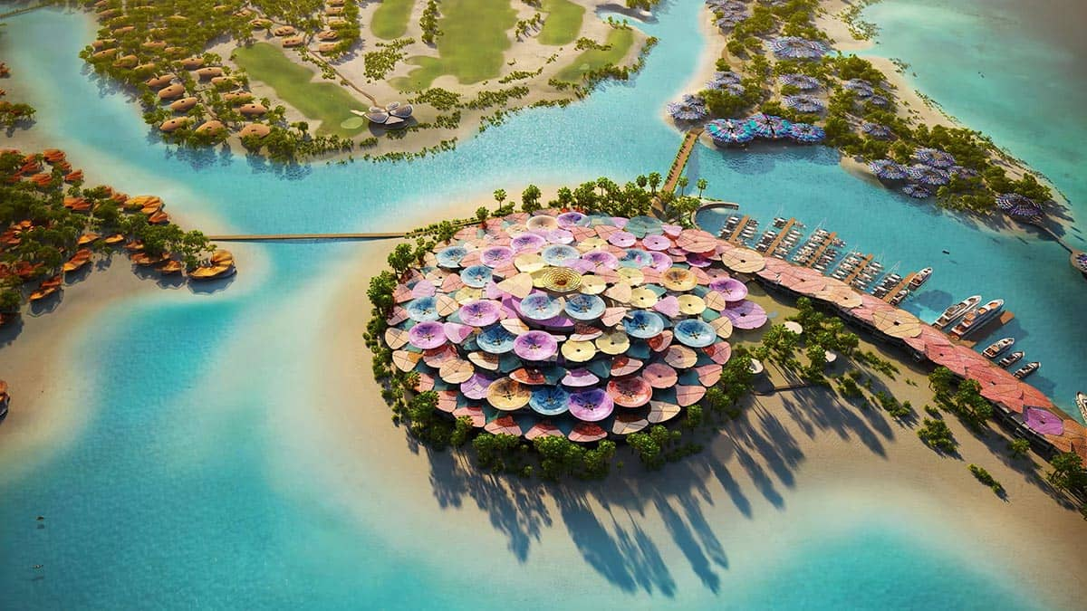 Coral Bloom Project on Shurayrah Island Concept, фото