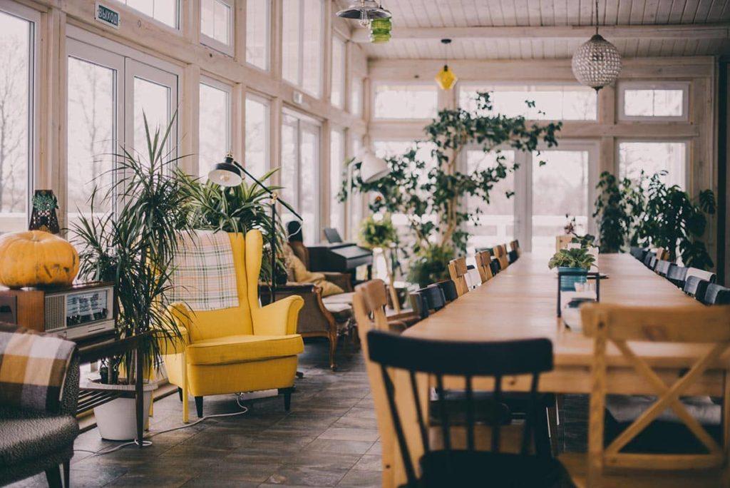 Hotel Bolotov Dacha Tula Common Room Interior, фото