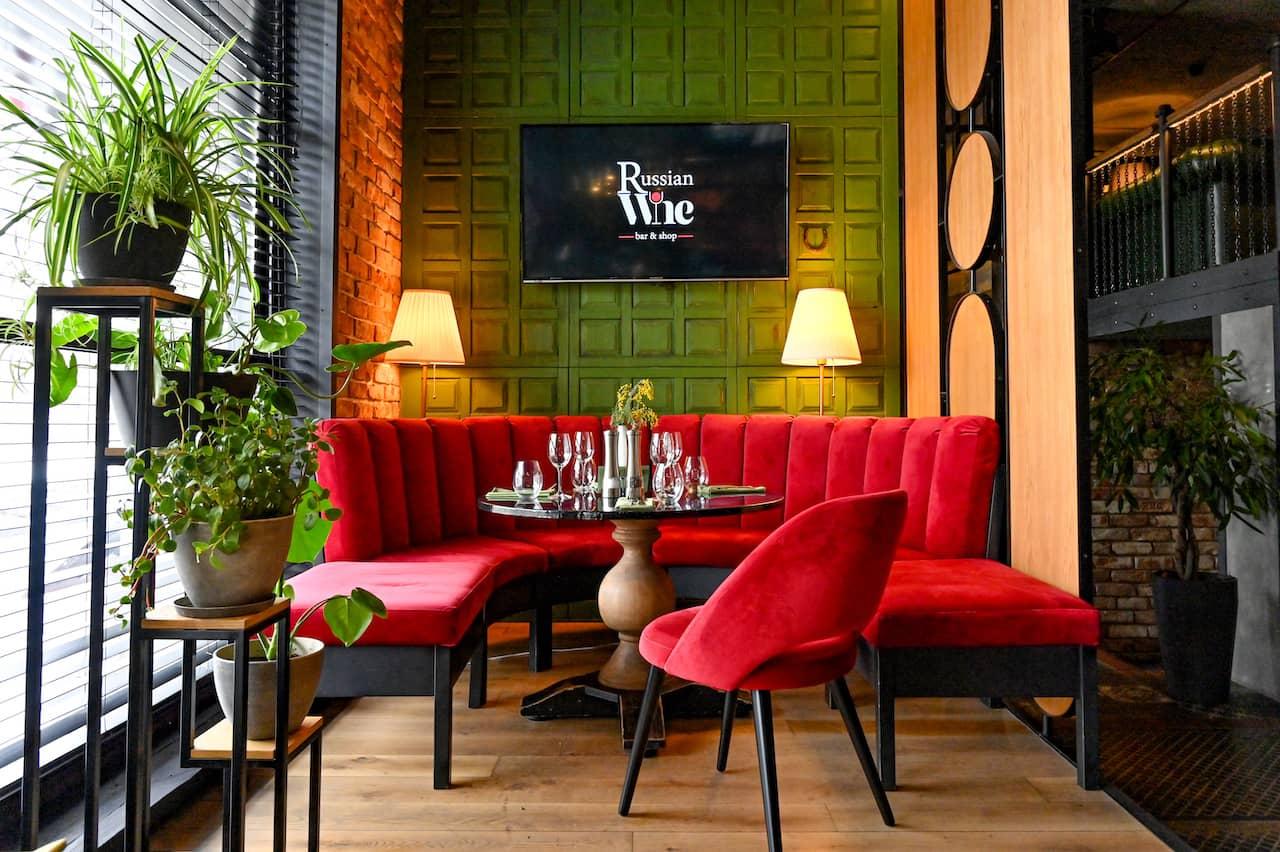 Russian Wine Bar&Shop Interior, фото