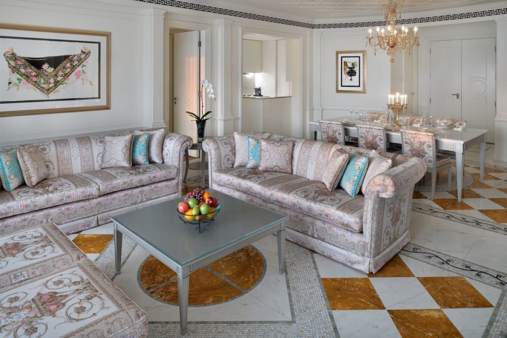 Hotel Palazzo Versace Dubai Two Bedroom Residence Living Area, фото