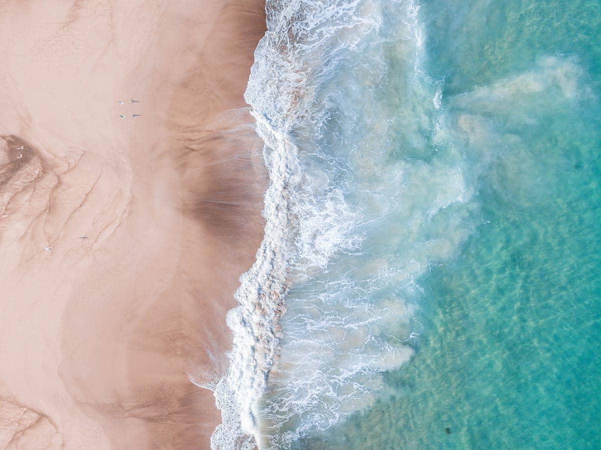 Beach at Crimea Aerial View, фото
