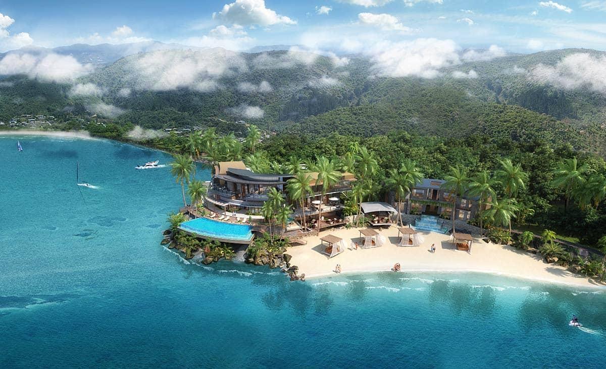 Hotel Mango House Seychelles Aerial View, фото