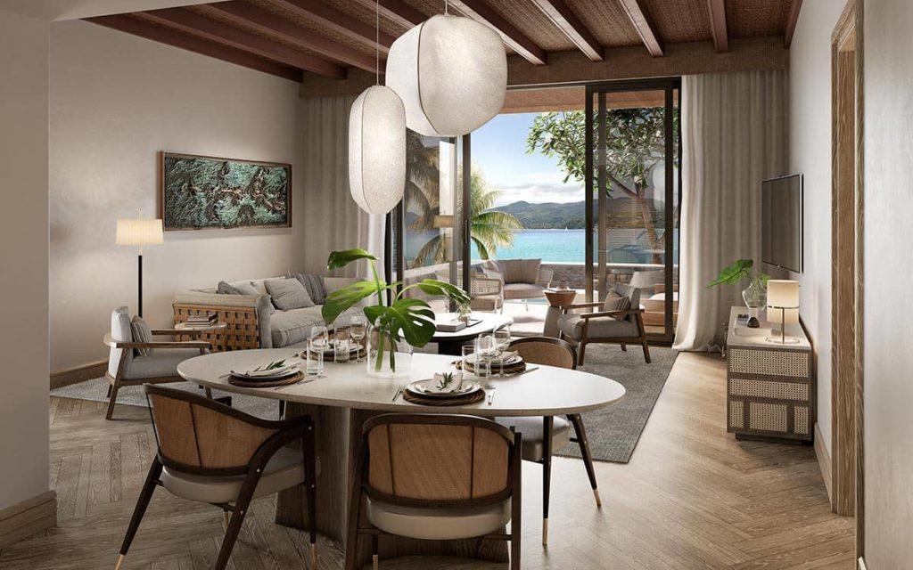 Hotel Mango House Seychelles Bungalow Lounge Interior, фото