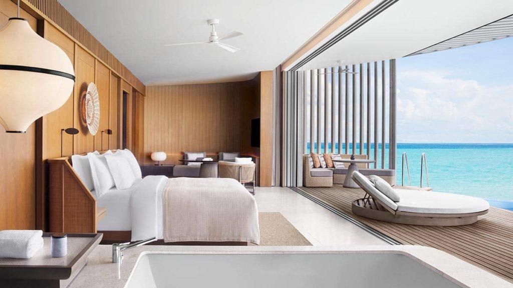 Hotel The Ritz-Carlton Maldives, Fari Islands Ocean Pool Villa Bedroom Interior, фото