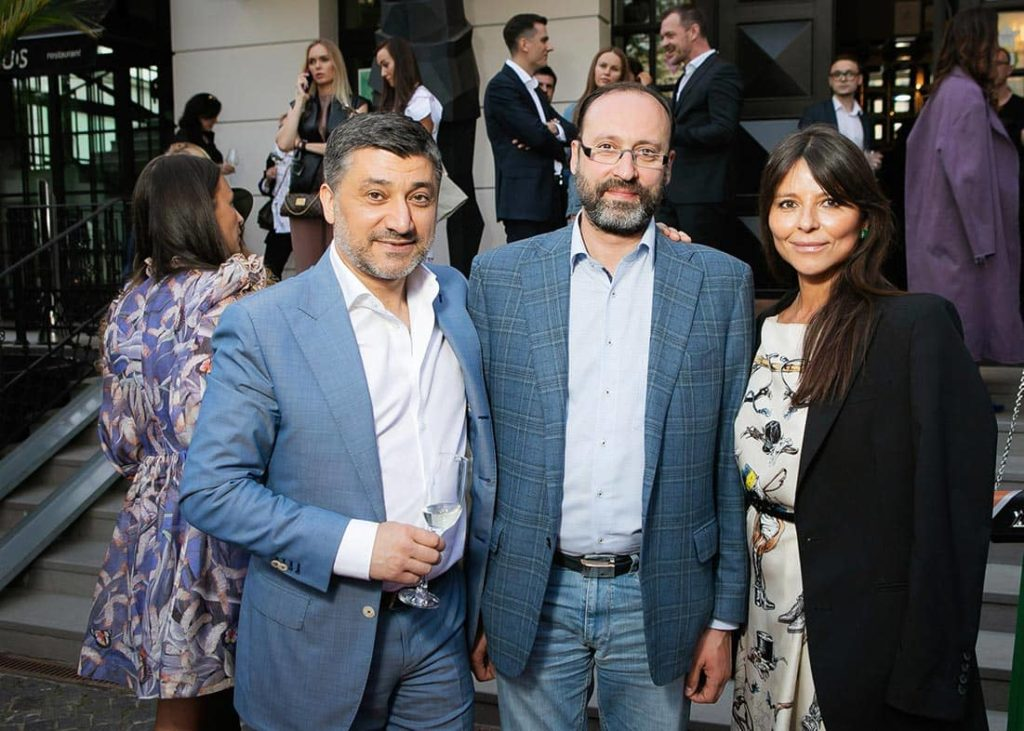 Vladimir Baigildin, Mikhail Dvorkovich, Arina Bugorskaya at The World Bridge Magazine Annyversary Party, фото