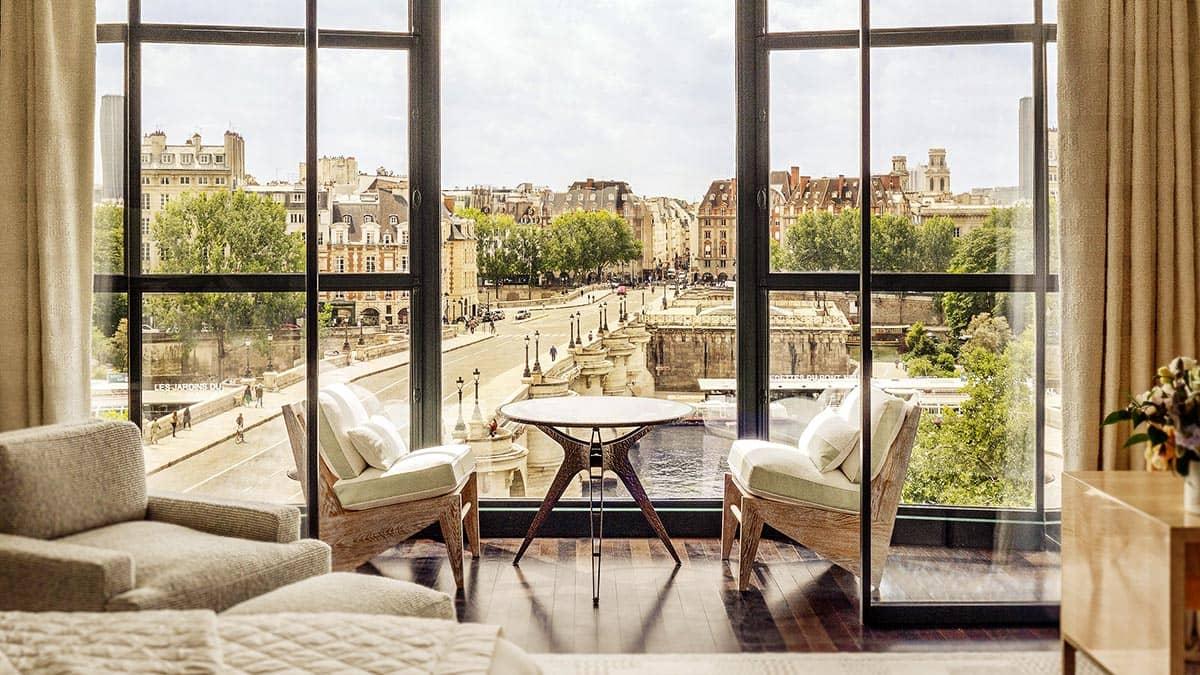 Интерьер отеля Cheval Blanc Paris в Париже, фото