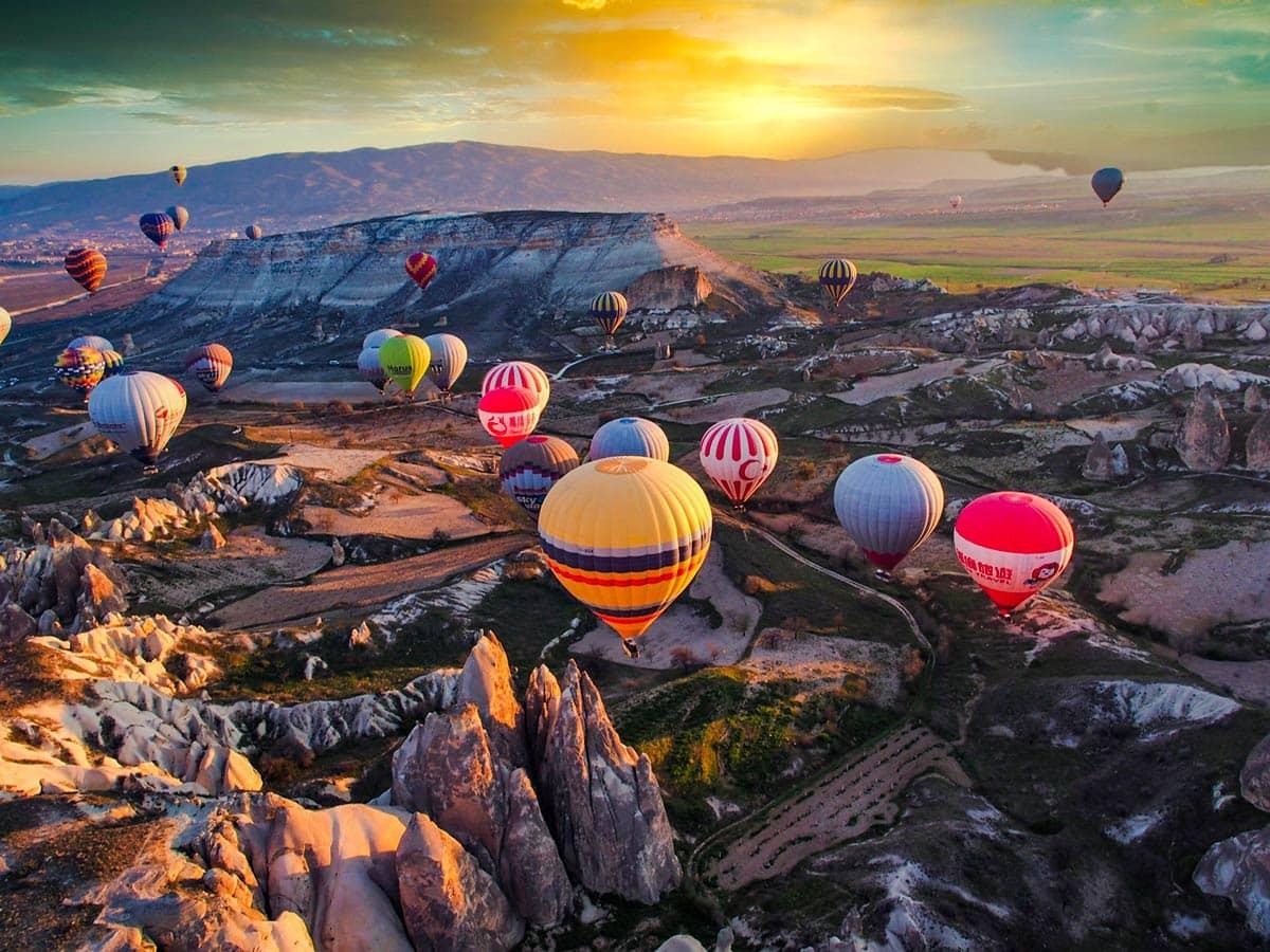 Воздушные шары в Каппадокии, фото